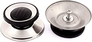 uxcell Kitchen Cookware Pot Lid Knobs 61mm Bottom Base Dia 2Pcs