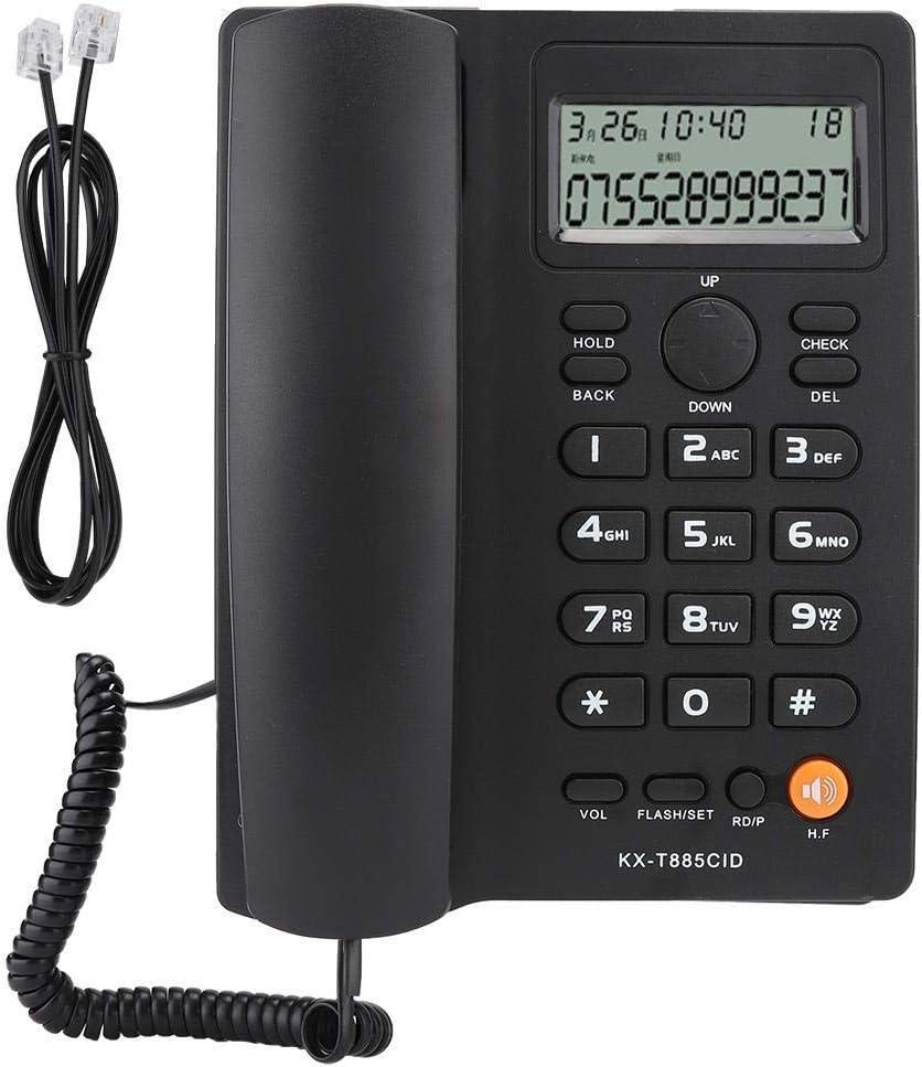 Tosuny Corded Phone with Speakerphone,Landline Telephone Caller ID Telephone Hands-Free Calling Home Office Hotel Landline Phone English (Black)