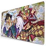 Popular Mouse Mat with Stitched Edge, Waterproof Japanese Anime One Piece Cavendish Bartolomeo Keyboard Mat, Non-Slip Rubber Base, Custom Desk Mat for Office Desktop Work