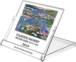 Ars Antigua 2019 Claude Monet Water Lilies • CD-Style Desk Calendar (Jan. 1, 2019 - Dec. 31, 2019)