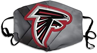 Atlanta Falcons Printing Washable Reusable Mouth Cover Balaclava with Adjustable Earloops Dust Cotton Face Mask Breathable for Women Men White