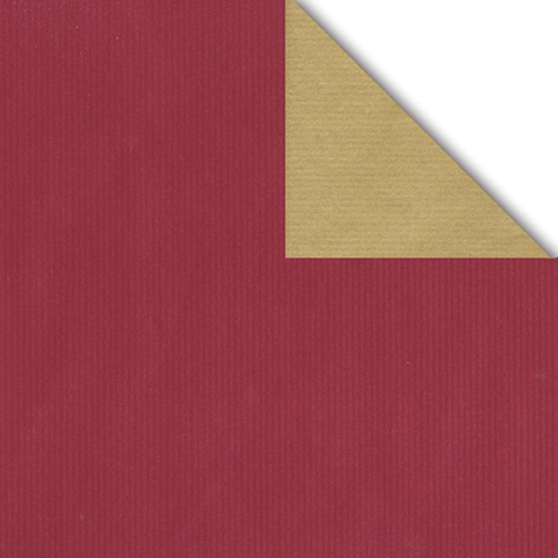Geschenkpapier Rolle 2-seitig bordeaux Gold 50cm x 250m B00GHG2C6G  | Sonderkauf