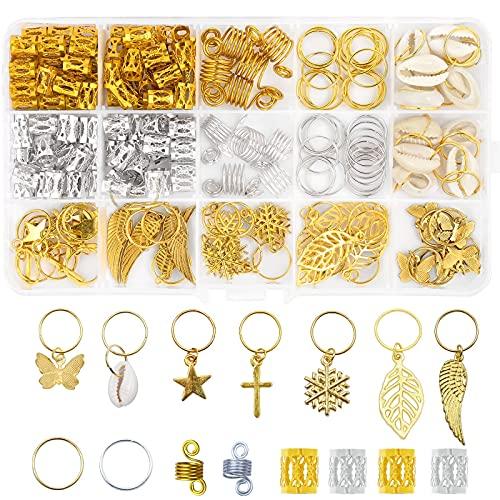 150 PCS Dreadlock Jewelry for Women Butterfly Braid Clips,Dreadlock...
