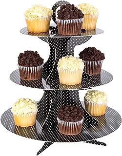 Restaurantware RWA0506B 3 Tier Cardboard Cupcake Stand, Black