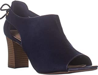 Charter Club CC35 Hirah Peep Toe Ankle Boots, Navy