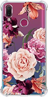 Huawei Y9 (2019) Case,Enjoy 9 Plus Case with Flower,LUOLNH Slim Shockproof Clear Floral Pattern Soft Flexible TPU Back Cover for Huawei Y9 (2019)/Enjoy 9 Plus(Purple)