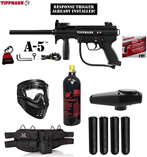 MAddog Tippmann A5 A-5 Gold Paintball Gun Package