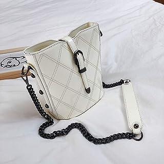 NIUPAN Bucket bag women's diamond chain bag messenger bag patent leather bag