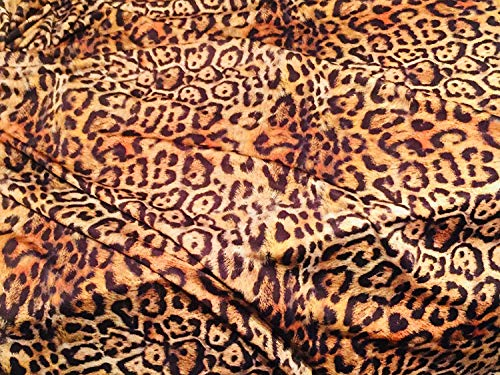 LEOPARD PANTHER ANIMAL Print Lycra Stof - 4 Way Stretch Polyester Jersey Materiaal voor bikini, kleding maken