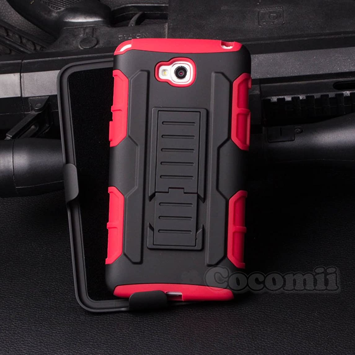 Cocomii Robot Armor LG G Pro Lite Case NEW [Heavy Duty] Premium Belt Clip Holster Kickstand Shockproof Hard Bumper Shell [Military Defender] Full Body Dual Layer Rugged Cover for LG G Pro Lite (R.Red)