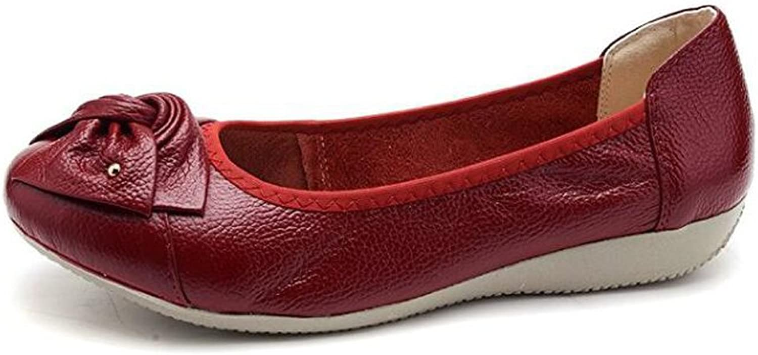 Otamise Women's Leather Loafers Flats Slip On Size 4.5-10