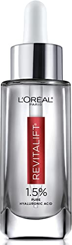 L'Oreal Paris 1.5% Pure Hyaluronic Acid Serum for Face with Vitamin C from Revitalift Derm Intensives for Dewy Lookin...