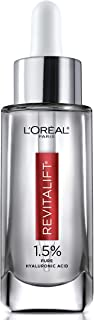L'Oreal Paris 1.5% Pure Hyaluronic Acid Serum for Face with Vitamin C from Revitalift Derm Intensives for Dewy Looking Skin, Hydrate, Moisturize, Plump Skin, Reduce Wrinkles, Anti Aging Serum, 1 Oz