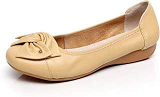 Genuine Leather Shoes Women Butterfly-Knot Loafers Flats Ballet Casual Flat Moccasins