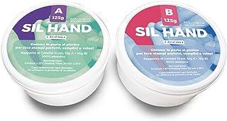RESCHIMICA SIL HAND (250 g) Caoutchouc silicone non toxique pour moules, kit à deux composants moulable à 1: 1 avec les do...