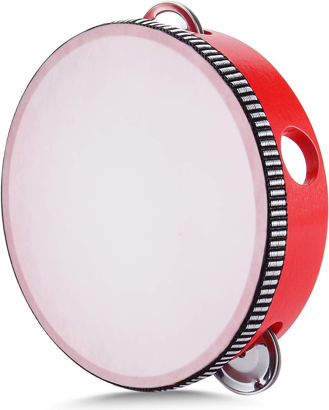 Flexzion Limited price Wood Handheld Tambourine 6