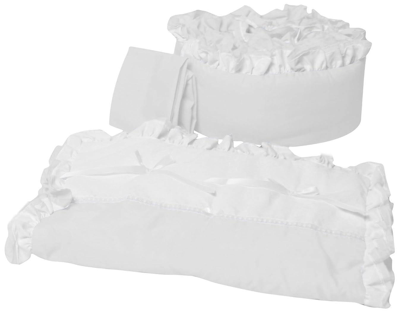 Baby Doll Bedding Regal Cradle Bedding Set, White