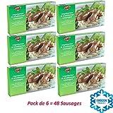 Pack de 6 SALCHICHAS TRADICIONALES 380g | Fry's Family Foods | Salchichas Vegetarianos | Salchichas Veganas | Congelado | Salchichas Microondas