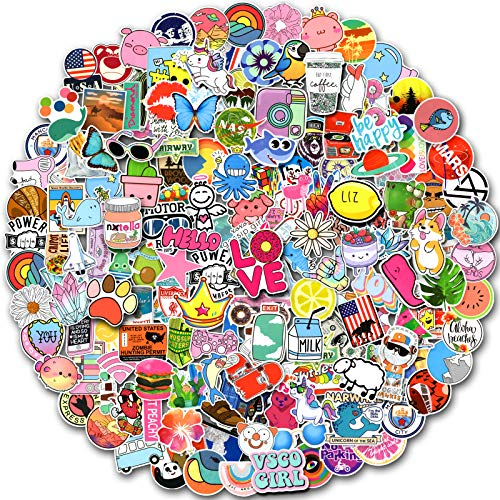 200 PCS Random Stickers Pack (50-500Pcs/Pack), Colorful Waterproof Stickers for Flask, Laptop, Phone, Water Bottle, Cute Aesthetic Vinyl Stickers