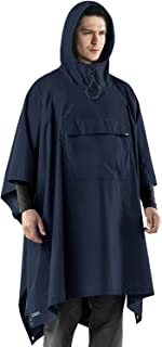 CQR by Tesla Men's Women's Rain Wear Pancho Rain Jacket with Hoods for Outdoor Sports Activity TZP03