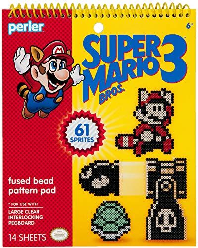 Perler Beads Super Mario Bros 3 Fuse Bead Pattern Pad, 14pgs