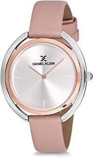 Daniel Klein Womens Quartz Watch, Analog Display and Leather Strap - DK12197-5