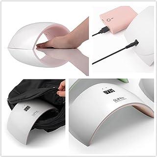 Joligel Lámpara LED UV Uñas Geles Semipermanentes Secador de Uñas Profesional para Shellac Esmaltes de Gel con Pantalla Tiempo de Visualización LED, Sensor Automático, viene con Cable USB + Enchufe