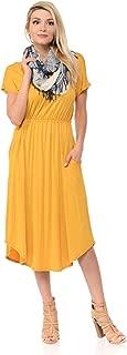 Best mustard midi dress Reviews