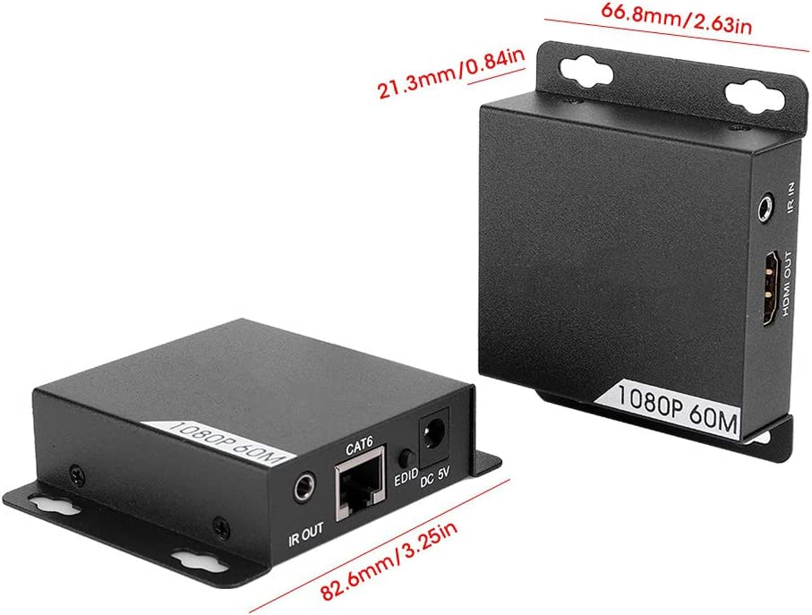 HD Extender Single Cable 1080P Fresno Mall LE Ranking TOP13 with Amplifier Signal