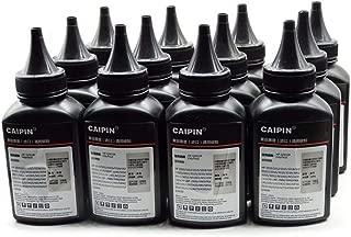 No-name Black Refill Laser Printer Toner Powder Kit for Samsung ML1710D3 ML1710 ML1750 ML1510 ML4116 ML1740 ML4016 Laser Printer (100g/Bottle,12 Bottle)