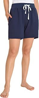 Weintee Women's French Terry Shorts with Pockets