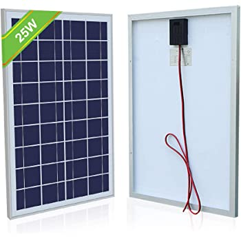 ECO Worthy 25 Watt 12 Volt Polycrystalline Solar Panel Module Off Grid Charging RV Boat