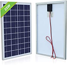 ECO-Worthy 25 Watt 12 Volt Polycrystalline Solar Panel Module Off Grid Charging RV Boat