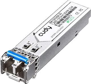 Cudy SM100GSA-20ギガビット1.25Gbit / s SFPモジュール、DDM、1.25G 1000Base SXシングルモードLCインターフェース、1310nm波長、最大20kmの距離