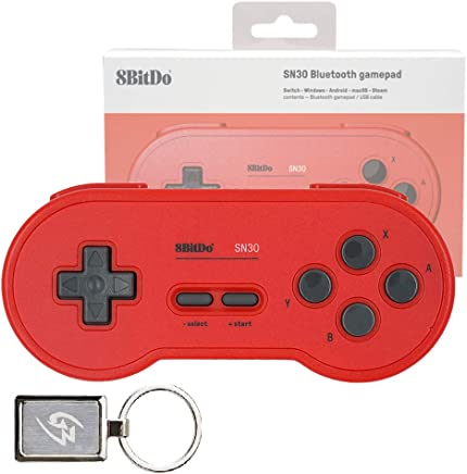 Mcbazel 8Bitdo SN30 GP Red Edition Bluetooth Gamepad Wireless Controller for Windows Android macOS Steam Nintendo