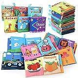 kramow 6 PCS Livre Tissu Bébé Livres d'éveil Jouet Educatif,Jouets Pour Bebe Enfant 0 3 6 12 Mois,Cadeau Anniversaire