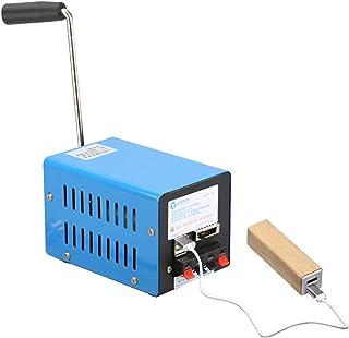 Jerome10Dan Generador de manivela Manual para Trabajos de Campo de Campamento generador de manivela portátil Generador USB de Mano multifunción Generador de Cargador USB de Emergencia