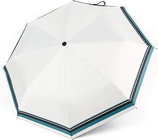 折りたたみ傘 日傘 自動開閉 晴雨兼用 UPF50+ UVカット 紫外線遮蔽率99% 遮光 耐風撥水 おりたたみ傘 レディース 8本骨 (ホワイト)