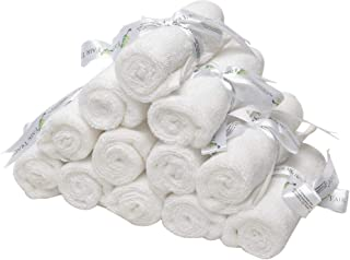 BYFT Iris - Wash Cloth - 33x33 CM - 600 GSM - White - Set of 12