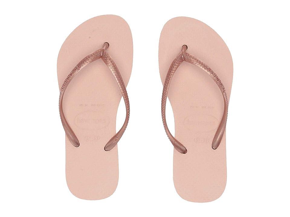 Havaianas Kids Slim Flip Flops (Toddler/Little Kid/Big Kid) (Ballet Rose) Girls Shoes