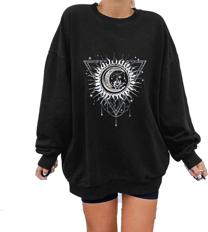 Jaqqra Oversize Crewneck Sweatshirts for Women, Women's Casual Long Sleeve Oversize Pullover Tops Shirts Blouse Girls
