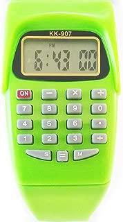 Digital calculator watch for kids green