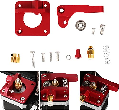 CHPOWER CR-10 Extruder Upgraded Replacement, Aluminum MK8 Drive Feed 3D Printer Extruders for Creality Ender 3, CR-10...