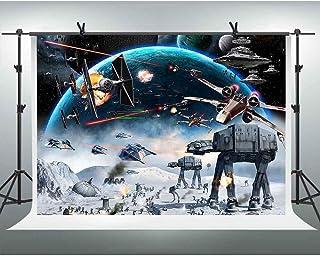 Weltraum Hintergrund Galaxy Wars Fotohintergründe 3 x 2 m Jungen Party Supplies Black Stars Science Fiction Fotografie Hintergrund Kinder Geburtstag Dekorationen Banner LSFH1221
