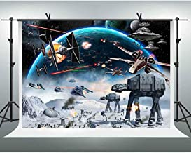 FHZON 10x7ft Robot Battle Backdrop Star Wars Photography Background Theme Party Wallpaper Photo Booth Props LSFH1221