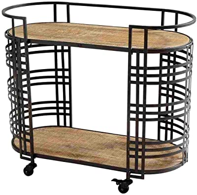 Radionic Banded About Bar Cart
