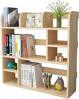 Librerie Bureau de bureau en bois massif pour enfants, étagère de bureau, étagère de bureau, étagère pour enfants, étagère...