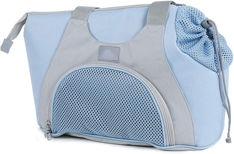 JIANXIN Pet Backpack, Pet Cage, Portable Pet Bag, Pet Out Backpack, Cat Dog Backpack, Pet Bag (color   bluee)