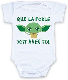 815e7f876fa37 Body bébé Yoda Que la Force Soit avec toi (Star Wars) Chibi et Kawaii