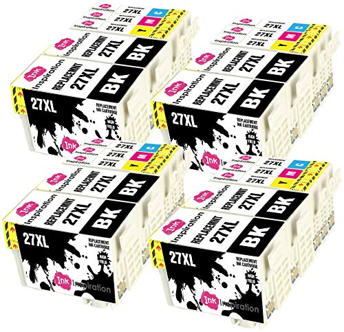 INK INSPIRATION Reemplazo para Epson 27 27XL Multipack 20 Cartuchos de Tinta...